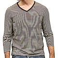 Something Strong Men's Brown/ White Striped Tee