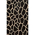 Power-Loomed Giraffe Charcoal Rug (3' x 5')