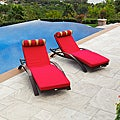 Cantina Arc Lounger with Mattress and Bolster Pillow (Set of 2)
