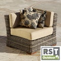 RST Resort Collection Outdoor 36-inch Corner Section in Weathered Grey