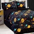 Galaxy Glow In The Dark 4-piece Full-size Comforter Set