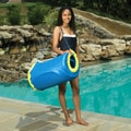 Blue Durable Nylon Mesh Handy Tote for Unsinkable Pool Float