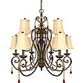Nuvo Lighting 'Cortina' 9-light Dune Gold Chandelier