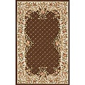 South Beach Brown Victorian Indoor/Outdoor Rug (2' x 3')