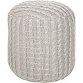 Decorative Looped Grey Pouf