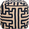 Decorative Argyle Blue Pouf