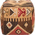 Decorative Southwestern Yellow Pouf