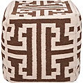 Decorative Argyle Brown Pouf