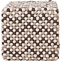 Decorative Cobblestone Brown Pouf
