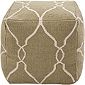 Decorative Arabesque Green Pouf