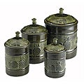 Old Dutch Pina Canisters with Fresh Seal Covers (Set of 4)