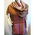 Selection Privee Paris Silk/ Modal Rust Pink Zebra Wrap Scarf