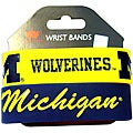 Aminco Michigan Wolverines Rubber Wristbands (Set of 2)