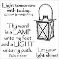 Inky Antics 'Shining Lantern' Clear Stamp Set