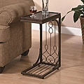 Brown Tray Top Snack End Table
