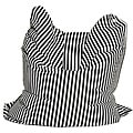 Sitting Bull Fashion Black and White Bean Bag