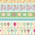 Sunday Picnic '5 Styles' Fabric Ribbon