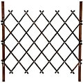 Walnut Diamond Bamboo 3-foot Fence (China)