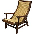 Curved Japanese Bamboo Sun Chair with Wood Frame (China)