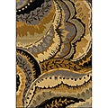 Gold/ Grey Transitional Area Rug (5' x 7'6)