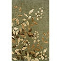 Monrovia Green/ Tan Transitional Area Rug (5&#39; x 8&#39;)