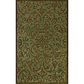 Monrovia Blue/ Brown Transitional Area Rug (8&#39; x 10&#39;)