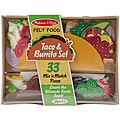 Melissa & Doug Felt Food Set-Taco & Burrito