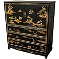 Black Lacquer Landscape Dresser (China)