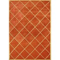 Hand-tufted World Classic Rusty Orange Wool Rug (8&#39; x 10&#39;)