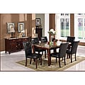 Radian Faux Marble 7-piece Dining Set with Black Chairs