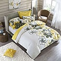 Allison Full/Queen-size 4-piece Yellow Polyester Comforter Set