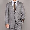 Giorgio Fiorelli Men's Gray Plaid Suit