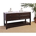 Granite Top 68-inch Double Sink Bathroom Vanity
