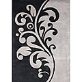 Alliyah Handmade New Zeeland Blend Flint Grey Wool Rug (5' x 8')