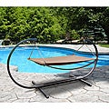 Outdoor Steel Stand and Polyester Hammock Bed Set