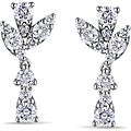 Miadora 14k White Gold 1 1/2ct TDW Diamond Dangle Earrings (G-H, SI1-SI2)