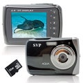 SVP WP6800 18MP Black Waterproof Digital Camera with 32GB Micro SD