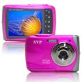 SVP WP6800 18MP Pink Waterproof Digital Camera