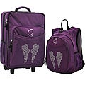 "O3 Kids ""Rhinestone Angel Wings"" Pre-School Backpack and Suitcase Set"