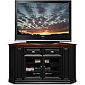 Black/Cherry 62-inch Corner TV Stand & Media Console