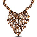 650ct TGW Tiger's Eye Multi-strand 18-inch Bib Necklace