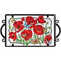 Joan Baker Hand Painted Poppy Garden Tray
