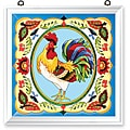Joan Baker Hand Painted French Country Rooster Art Panel