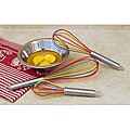 3-piece Multicolored Silicone Whisk Set