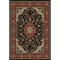 Medallion Traditional Black Area Rug (3' 11 x 5' 3)
