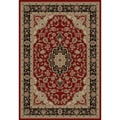 Medallion Traditional Red Area Rug (6' 7 x 9' 6)