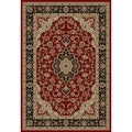 Medallion Traditional Red Area Rug (3' 11 x 5' 3)