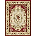 Royal Medallion Red/ Beige Floral Rug (3&#39;3 x 5&#39;3)