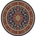 Medallion Traditional Navy Area Rug (5' 3 Round)