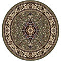 Medallion Traditional Green Area Rug (5' 3 Round)